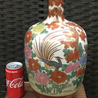 古い 薩摩焼 ○十印 置物 花瓶   幅21  奥行21  高さ...