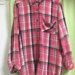 mysty woman ピンクチェックシャツ