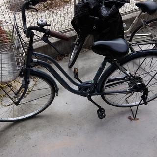 27インチ 愛知 自転車 中古 灰色 ツーロック ママチャリ