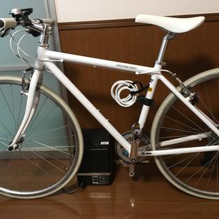 クロスバイク 白