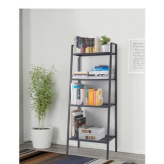 IKEA 棚 収納 LEBERG レールべリ 黒 灰色