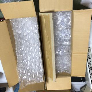 大量の梱包材(プチプチ等)と段ボール15箱