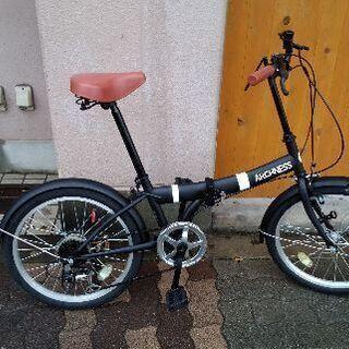 美品☆ARCHNESS 20吋折り畳み自転車 外装6段/ブラック