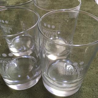 ウィスキー、ボストンクラブのグラス4個セット