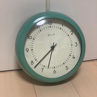 壁掛け時計(ミントグリーン)