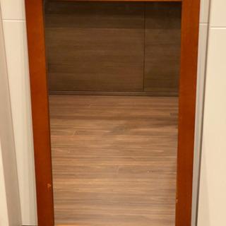 木製フレーム 鏡 ミラー 壁掛け