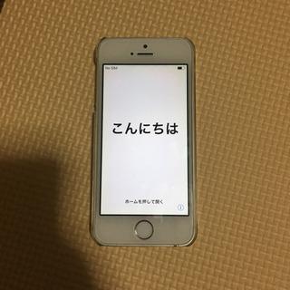 iPhone5s 16g SoftBank シルバー ガラスフィ...