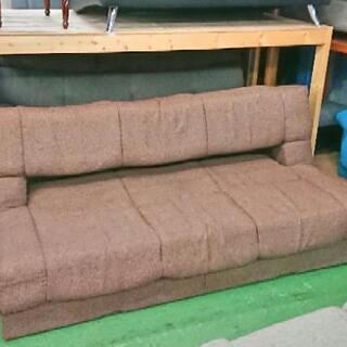 ソファーベッド  布製  引き出し付き  185×77×80