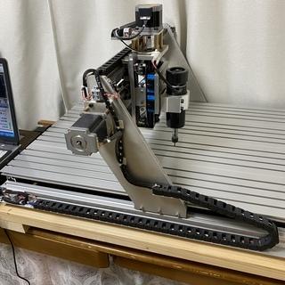 自作CNCフライス 作業領域650mm×450mm USB Mach3