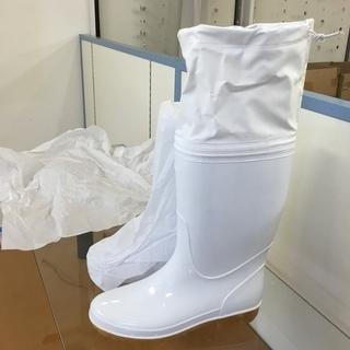 <新品>作業用・フード付長靴・白・26㎝