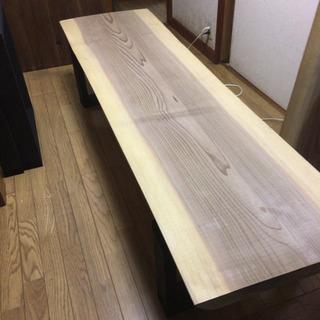 値下げ 大特価 特大 200cm 一枚板ダイニングローテーブル ...
