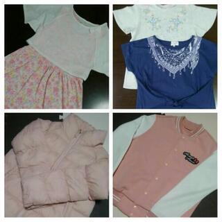 【サイズ150】女の子向け アウター・Tシャツ・ワンピース5点セット