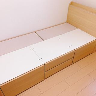 【一人暮らし】シングルベッド 【収納付き】