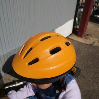 サイクルヘルメット オレンジ色