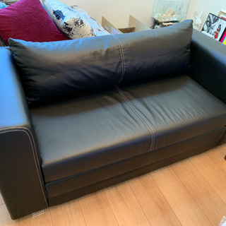 IKEA イケア ソファ レザー  ソファベッド