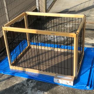 犬用 木製ペットサークル ワンルームタイプ 中古