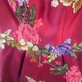 【値下げ!】カクテルドレス バラ刺繍 未使用品