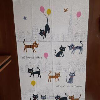 猫柄 のれん タペストリー カーテン