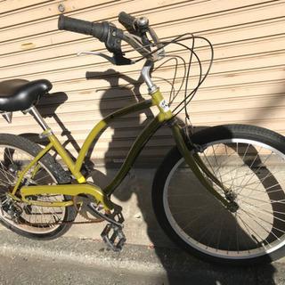 整備済中古自転車 five  card ビーチクルーザー 6段ギア