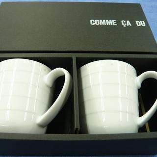 コムサデモード マグカップ ペアセット 白 札幌 西岡店