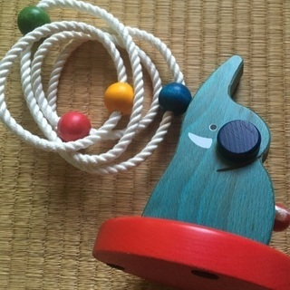 木のおもちゃ★ゾウさんの輪投げ