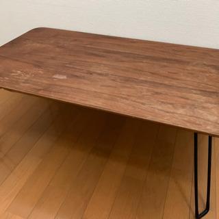 【無料】【訳あり】木目調デザインテーブル