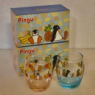 【無料】古いけど未使用・非売品ミスド・ピングーのグラス2個セット×2