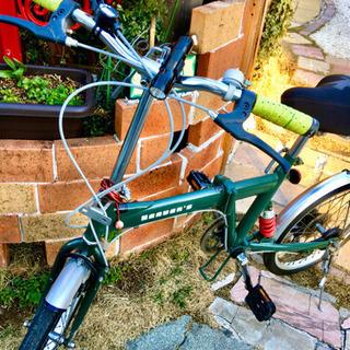 6段変速の折り畳み自転車です。
