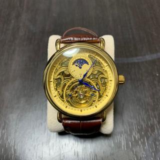 海外限定品 メンズ高級腕時計 ブラウンレザー