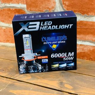 ★新品★ X3 LED  HEADLIGHT H4 ヘッドライト...