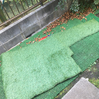 防草シート付き人工芝