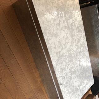 金属製収納ボックス2個セット 幅86 奥行き40 高さ25