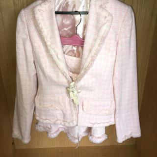 スカートスーツ ピンク