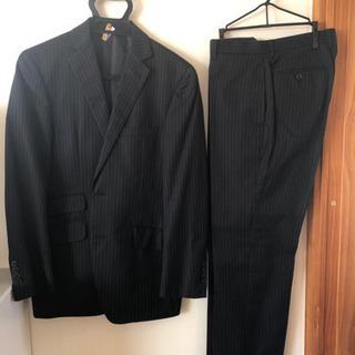 メンズスーツ(秋冬) 黒ストライプ