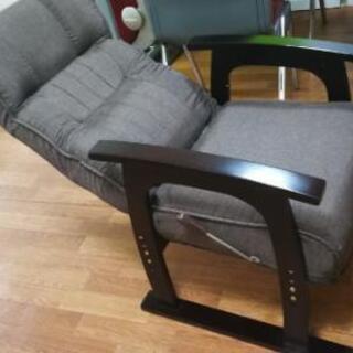 高座椅子 レバー式 リクライニング (値下げしました) - 家具