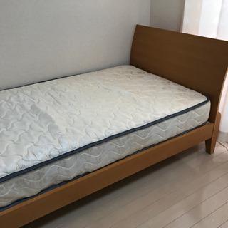 シングルベッド(ポケットコイルマットレス付)