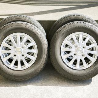 N-VANのタイヤ4本セット(ホイール付き)(美品)の画像