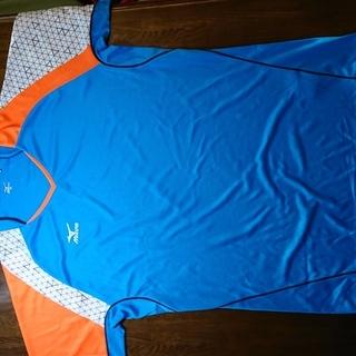 【未使用】 スポーツウェア(ミズノ) Tシャツ(ターコイズブルー...