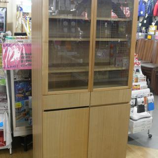 無印良品  食器棚 ワゴン付食器棚 キッチン収納 木製 SE87...