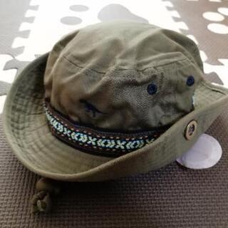 新品 キッズ ハット 帽子 恐竜 カーキ 50cm