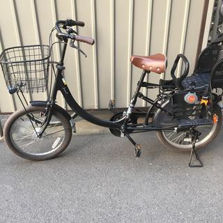 子供乗せ自転車 20インチ 黒 ブラック マット