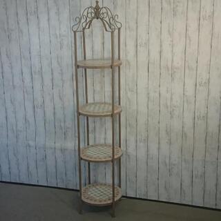 フラワースタンド 花台 飾り棚 アイアンタイル