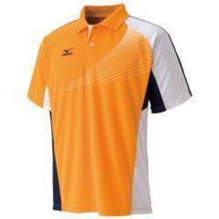 【未開封】 スポーツウェア(ミズノ) ポロシャツ(オレンジ)XLサイズ