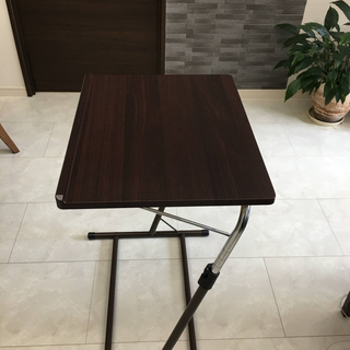 昇降式 サイドテーブル 幅55×奥行46-51×高さ60.5-8...