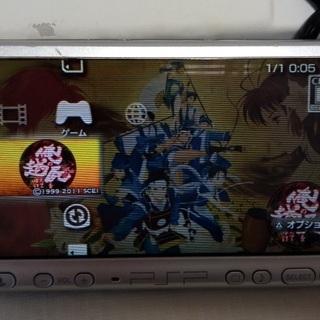 【中古】PSP3000(銀) + ソフト4本 - おもちゃ