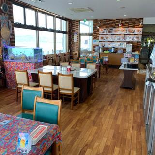 オーシャンビューの食堂カフェ
