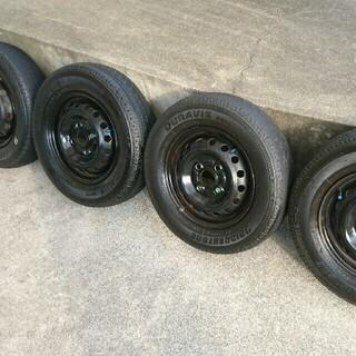 145R12LT バモスホビオのタイヤ4本セット(ホイール…