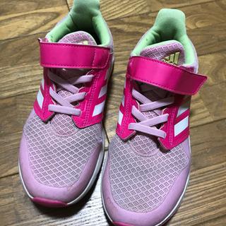 アディダス 運動靴 スニーカー 21cm 女の子 ピンク