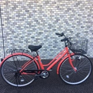 27インチ自転車 ワイヤーロック付き