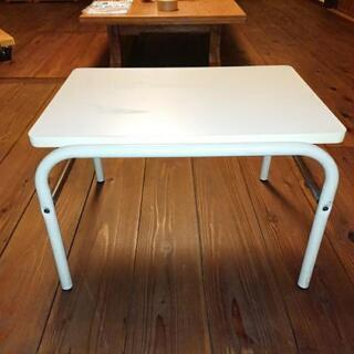 ミニテーブル スチール製 天板 合板